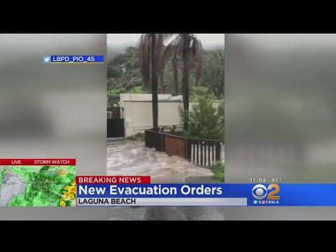 New Evacuations Ordered In Laguna Beach