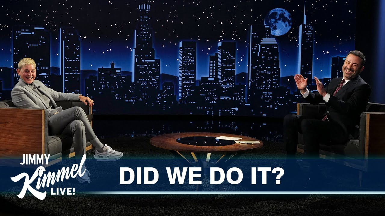 "Ellen DeGeneres & Jimmy Kimmel Play ""Did We Do It?"""