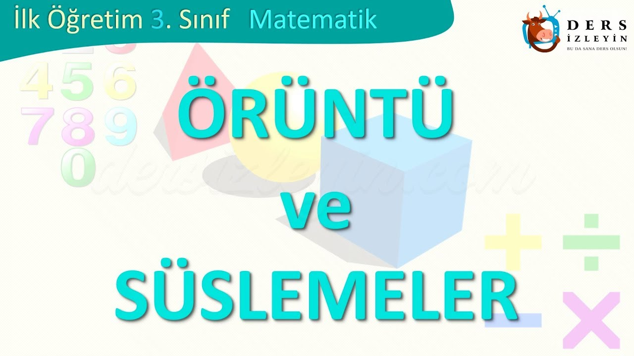 Oruntu Ve Suslemeler Youtube