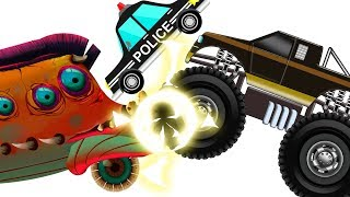 Evil VS Good Vehicles | Scary Bus | Police Car | Monster Truck