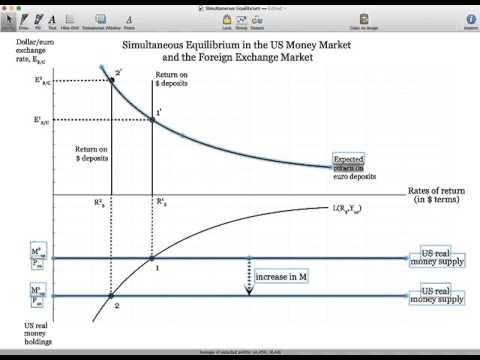 Simultaneous Equilibrium in the US Money Market and Foreign Exchange Market