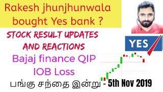 Stock Market Updates Results - 05 Nov 2019 | yesbank Rakesh JhunJhunWala | Tamil Share | Intraday