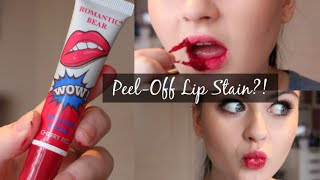 PEEL OFF LIP STAIN DISASTER | First Impressions