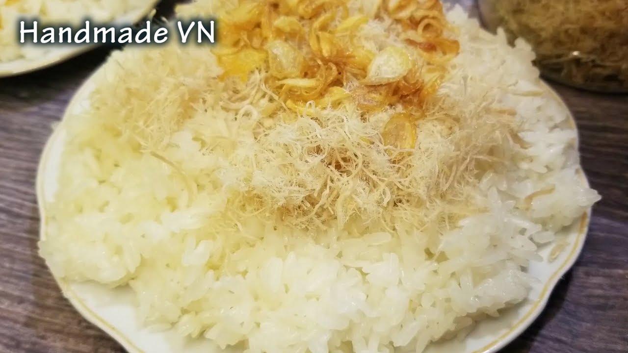 Cách nấu XÔI bằng nồi cơm điện thơm ngon béo ngậy