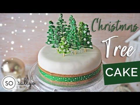 Christmas Cake Decorating Ideas With Fondant Christmas Tree Cake