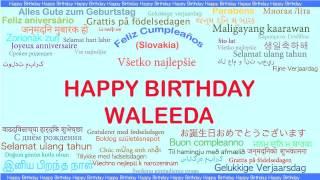 Waleeda   Languages Idiomas - Happy Birthday