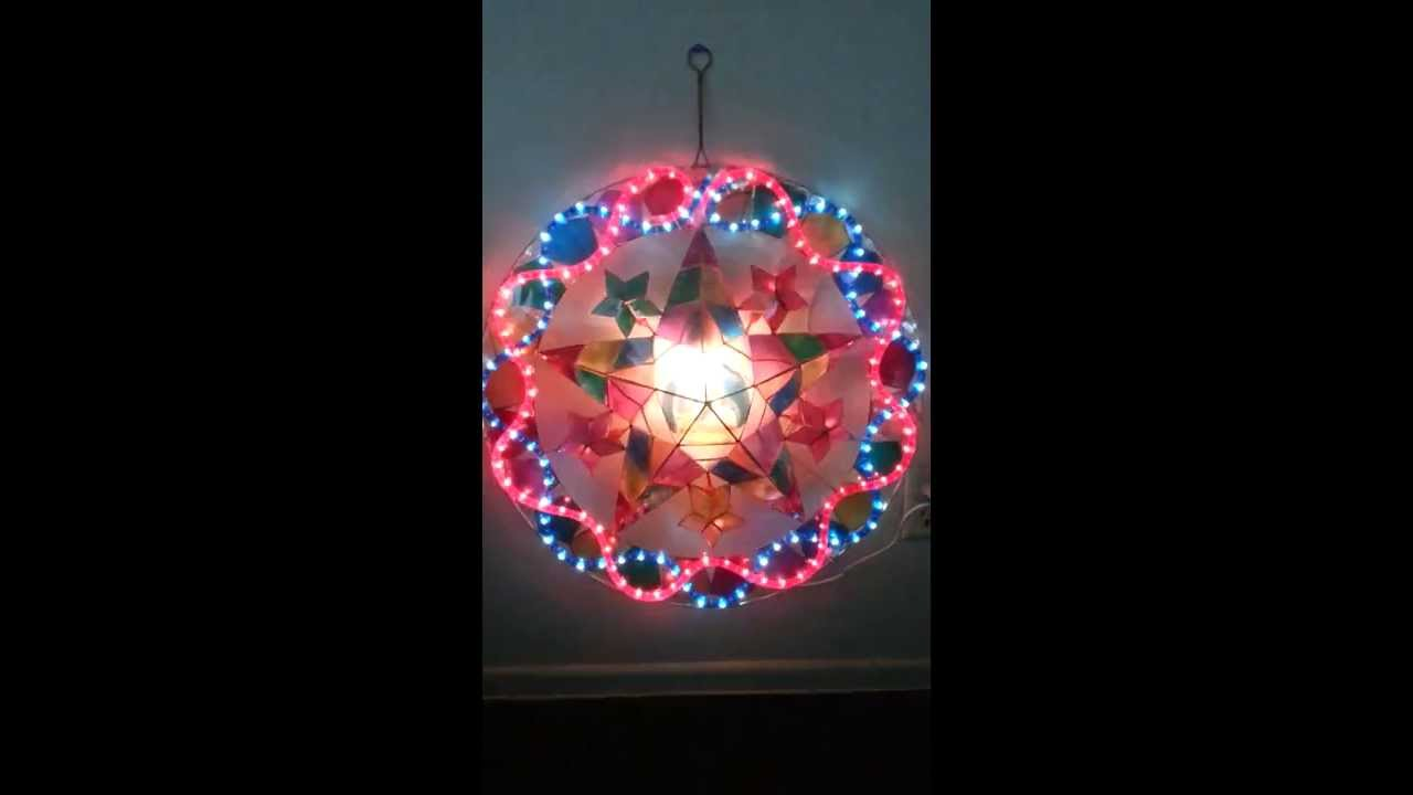 Filipino parol for sale in america - For Sale Stariray Christmas Capiz Parol Lantern 24 3d Psychedelic Holy Family Ropelights