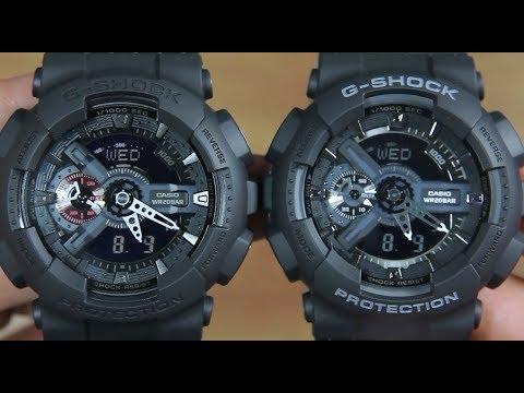CASIO G-SHOCK GA-110MB-1A VS G-SHOCK GA-110-1B - YouTube c3d617710