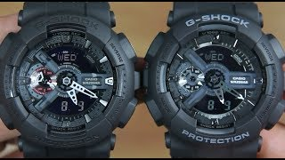 CASIO G-SHOCK GA-110MB-1A VS G-SHOCK GA-110-1B