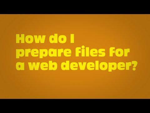 - Web Design - How do I prepare files for a web developer?