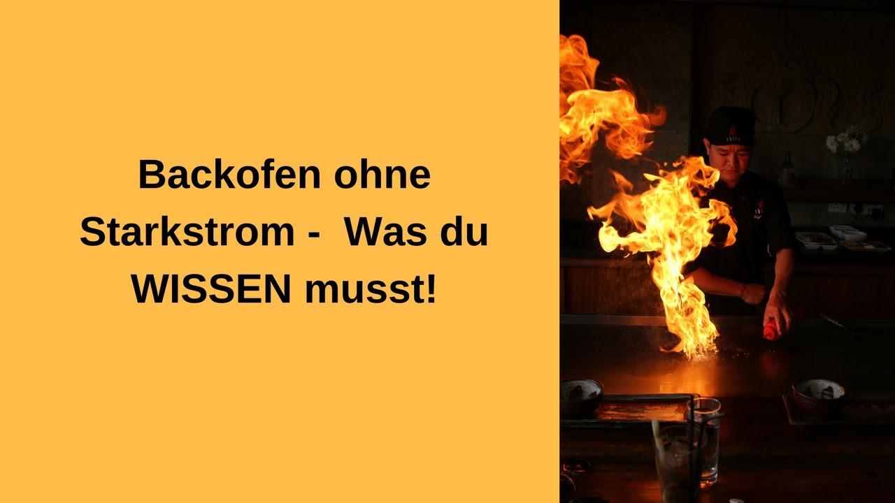 backofen ohne starkstrom youtube