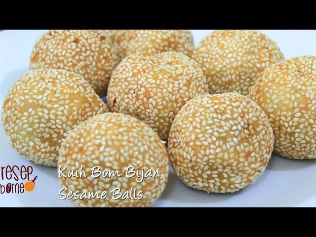 Resepi Kuih Bom Bijan Onde Onde Sesame Seed Balls Youtube