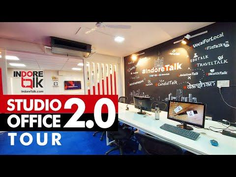 Indore Talk STUDIO OFFICE 2.0 | Office Tour | Customize & Creatively Design Media Office
