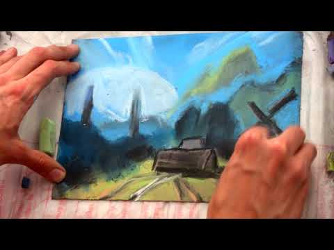 Gothic 2 game fan art landscape speed painting drawing