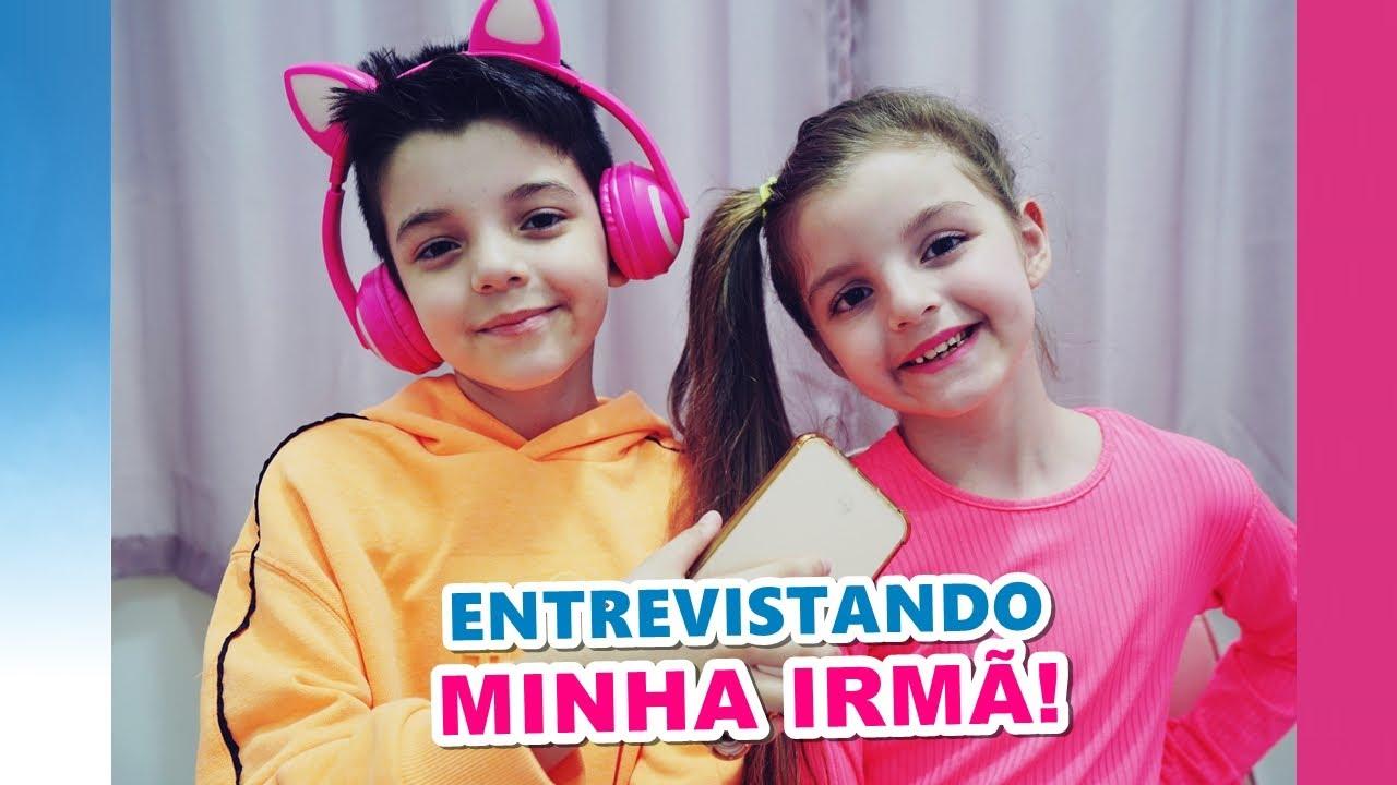 ENTREVISTANDO MINHA IRMÃ - Piero Start #Shorts