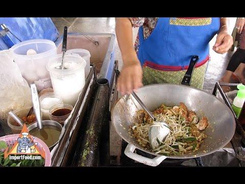 Pad Thai Shrimp Street Vendor