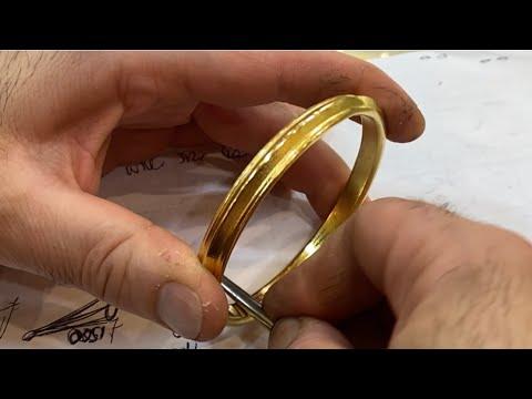 I MAKE A 150g GOLD SIKH INDIAN KADA BANGLE! Indian Jewelry | Jewelry Making | How it's Made | 4K Vid