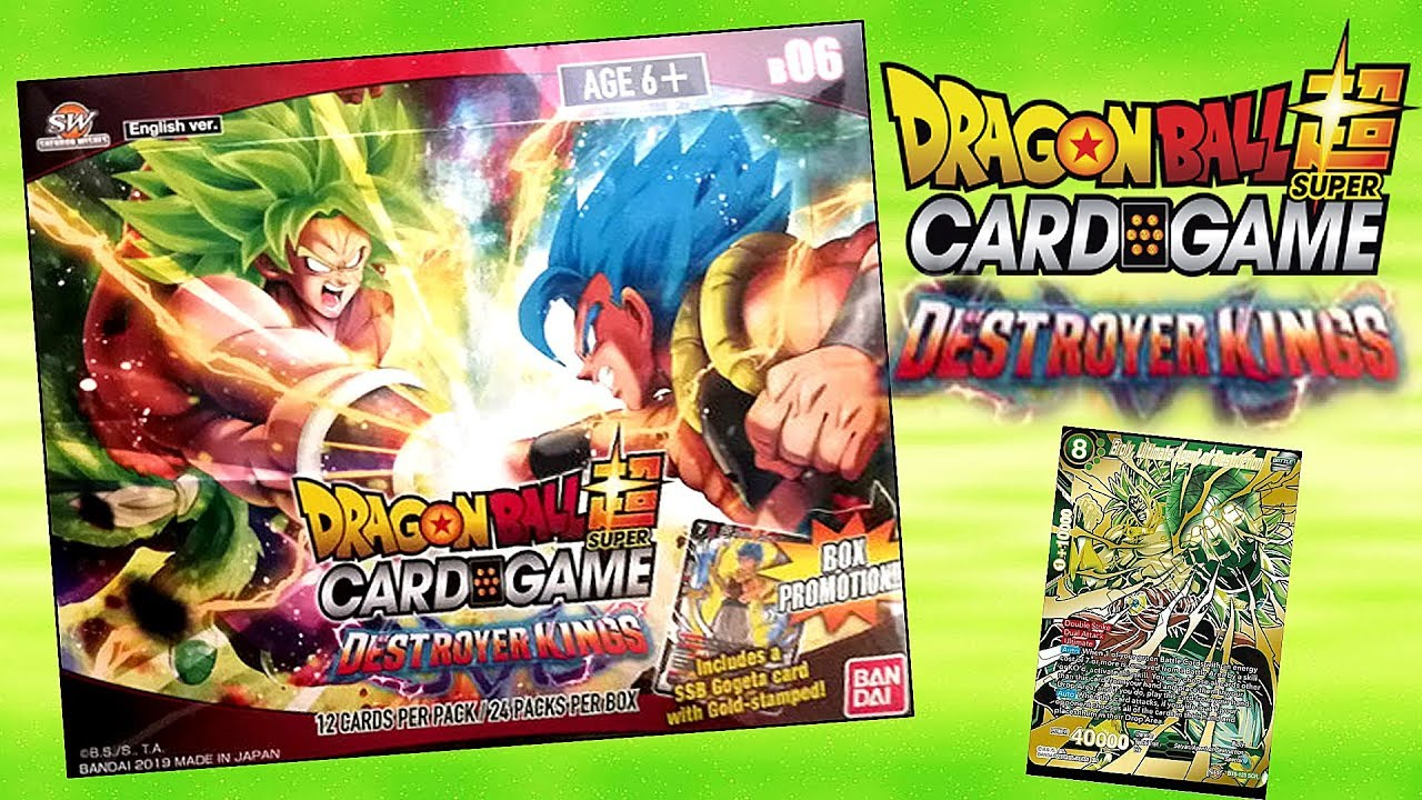Destroyer Kings Booster Box Unboxing Dragon Ball Super Card Game