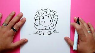 Como dibujar una oveja paso a paso 2   How to draw a sheep 2