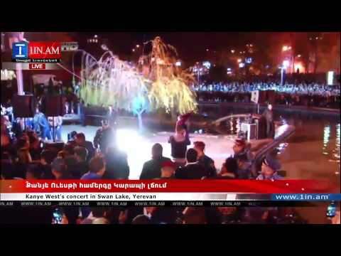 Kanye West's Live Performance in Downtown Yerevan Swan Lake   Armenia, April 13, 2015 Yerevan
