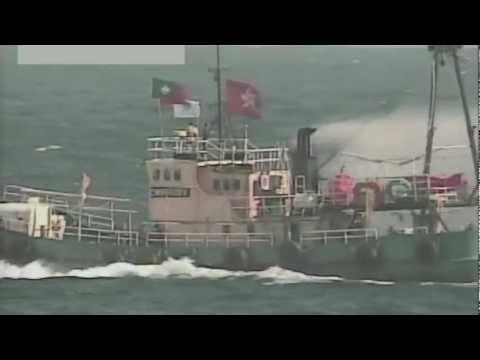 Japan Coast Guard's attempts to block Chinese activists from