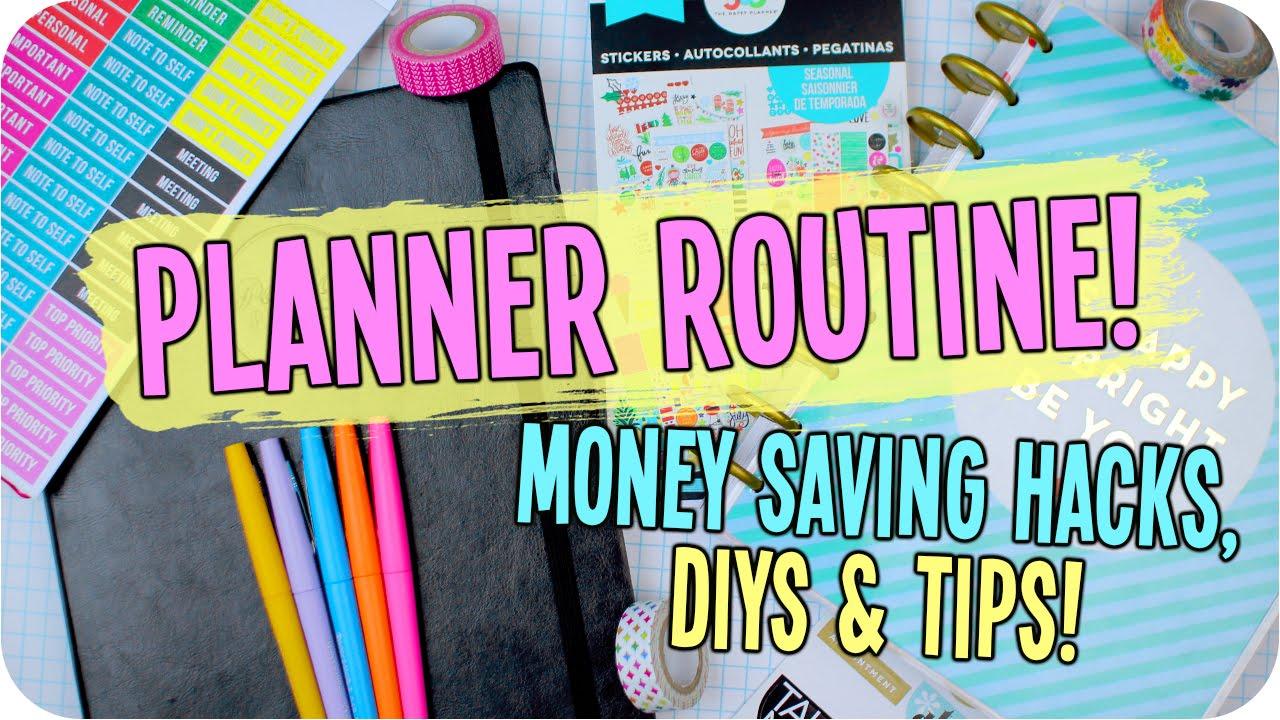 planner organization hacks diys money saving tips youtube