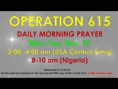 Operation 615 Morning Prayer, June 8, 2018