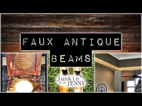 Faux Antique Beams | Junkin' With Jenny