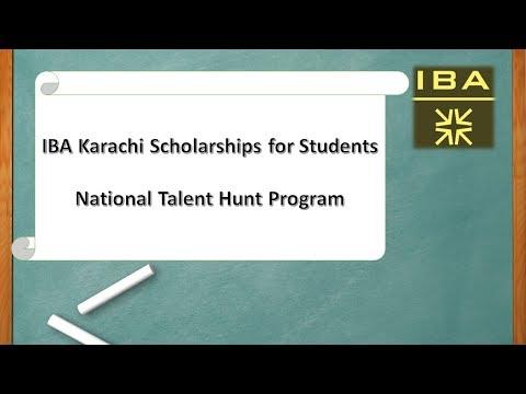 iba-karachi-scholarships-for-student-|-national-talent-hunt-program