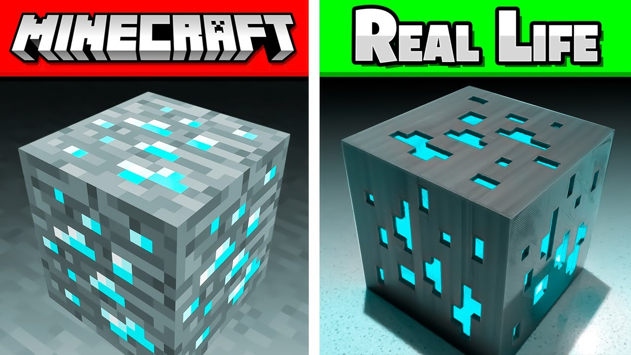 Minecraft But In REAL LIFE! (Mobs, Blocks, Items)