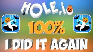 I Did It Again - Hole.io - Gameplay - 100% Solo Run - (iOS - Android)