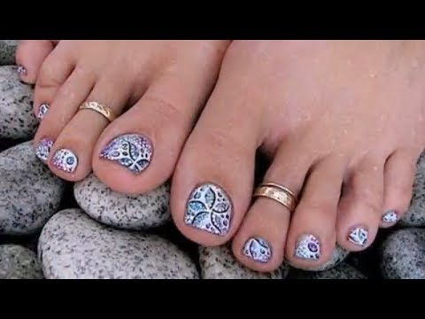 Красивый педикюр - Подборка фото ногтей на ногах