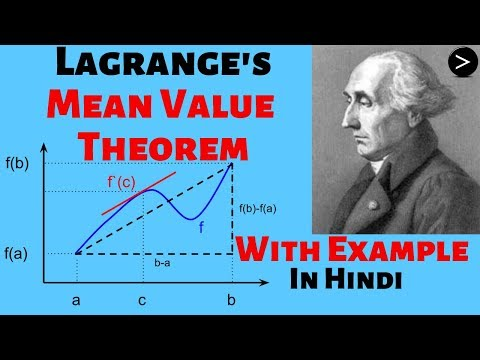 Lagrange's Mean Value Theorem In Hindi | Maths