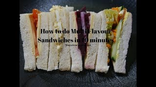 Multi Flavour Sandwiches in 10 minutes