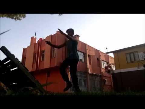 Duvarda Geri Takla Antremanları ( Anıl Piyancı - Kostüm ) (wall flip) #parkourTÜRKİYE