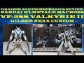 Bandai Hi-MetalR Macross VF-2SS  Valkyrie II Nexx Custom Figmechanics Review
