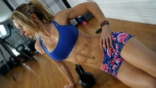5 Minute Fat Burning Workout #97 - Kettlebell and Slider Exercises