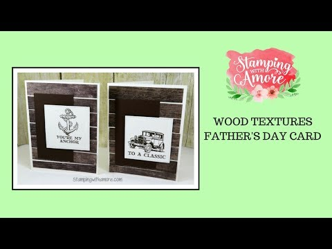 Wood Textures Father's Day Card