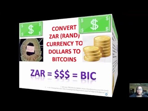How To Convert Or Transfer ZAR Rands Into USD Dollars Into BTC Bitcoin