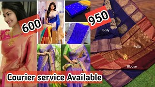 Rs.600 Onwards Uppada Pattu Sarees Direct from Manufacture |All New Collection with Contact number