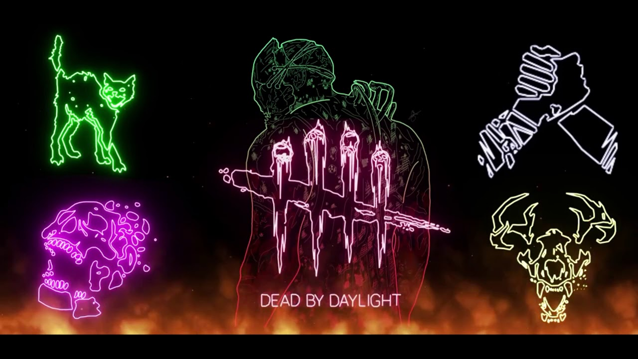 dead by daylight animated neon theme for wallpaper engine. Black Bedroom Furniture Sets. Home Design Ideas