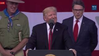 40,000 BOY SCOUTS: President Donald Trump MASSIVE SPEECH at 2017 National Boy Scout Jamboree 7/24/17