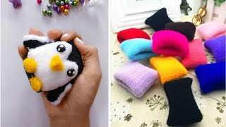 How to make Penguin 🐧 from Hair Rubber bands| No Sew || DIY  Penguin🐧