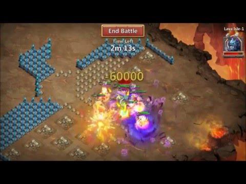 Castle Clash LAVA 1 And LAVA 2 Attempt