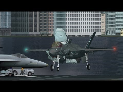 FSX F-35 Carrier Ops near Honolulu [AWESOME GRAPHICS]