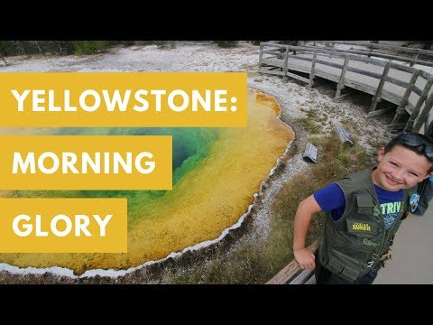 Hiking Biscuit Basin Trail to Morning Glory - Castle Geyser Eruption! - Yellowstone National Park