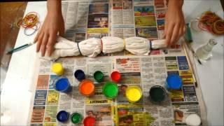Майка в технике Шибори(Майка в технике Шибори Для этого вам понадобятся: сама майка, краски для батика, кисти, канцелярские резинк..., 2015-03-29T09:13:50.000Z)