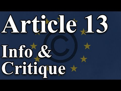 EU Copyright Directive; Article 13, 11 and 12 - Uploadfilters - Information and Critique Mp3