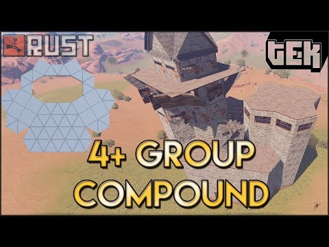 4+ Man Group Base Design Enclosed Compound - Furnace/Refinery/Heli New Rust Base Build and Design