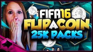 FIFA 16 FLIP A COIN 25K PACKS!!